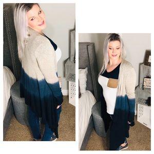 Sweaters - Glam Knit Tie Dye Ombré Cardigan